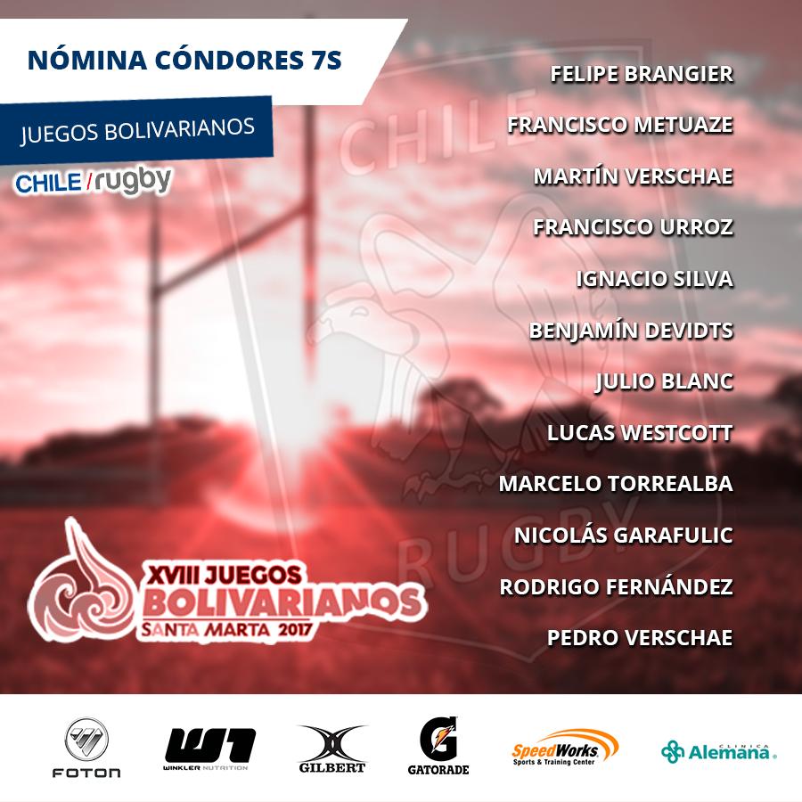 Nomina Seven Juegos olivarianos